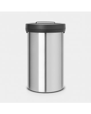 Big Bin 60 litre - Matt Steel Fingerprint Proof