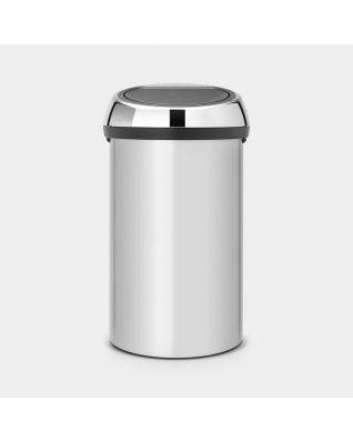 Touch Bin 60 litros - Metallic Grey