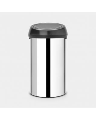 Touch Bin 60 litre - Brilliant Steel