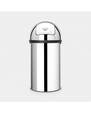 Push Bin 60 litre - Brilliant Steel