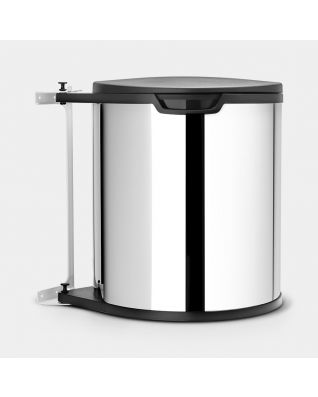 Built-in Bin 15 litres - Brilliant Steel