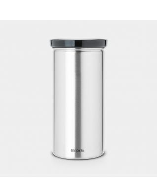 Coffee Pad Canister 18-pcs Capacity - Matt Steel Fingerprint Proof