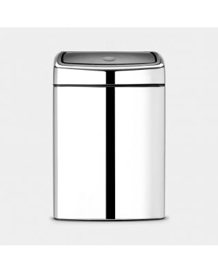 Touch Bin 10 liter - Brilliant Steel