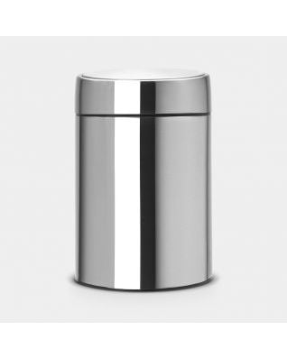 Slide Bin, 5 litre Matt Steel Fingerprint Proof