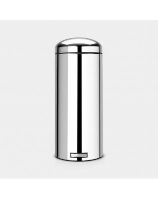 Pedal Bin Retro 30 litre - Brilliant Steel