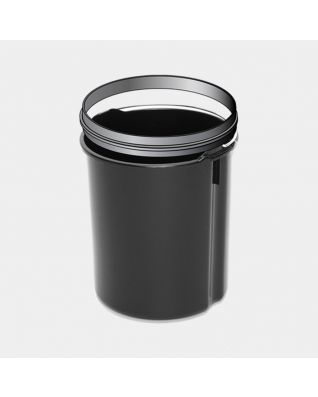 Plastic Inner Bucket with Handle and Upper Rim, 5 litre - Black