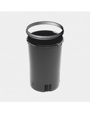 Plastic Inner Bucket with Handle and Upper Rim, 20 litre - Black