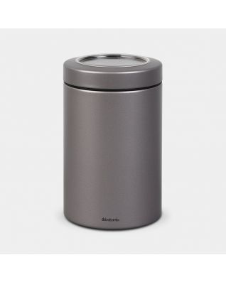Window Lid Canister 1.4 litre - Platinum