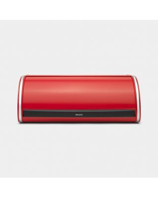 Roll Top Bread Bin Passion Red