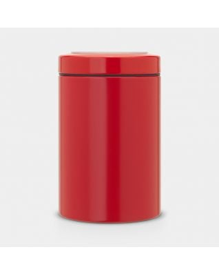 Window Lid Canister 1.4 litre - Passion Red