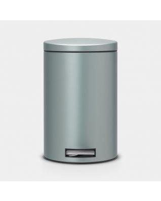 Cubo pedal Silent 12 litros - Metallic Mint