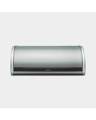Roll Top Bread Bin Metallic Mint