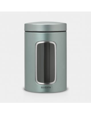 Window Canister 1.4 litre - Metallic Mint