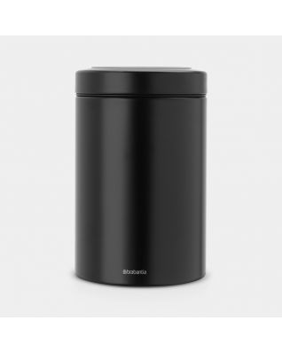 Window Lid Canister 1.4 litre - Black