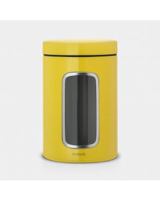 Window Canister 1.4 litre - Daisy Yellow