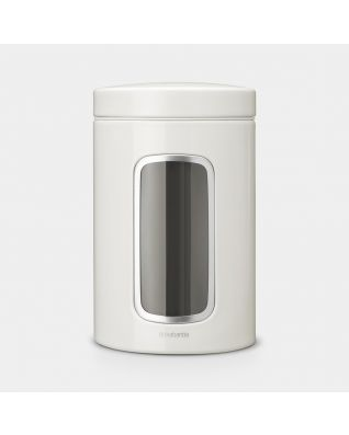 Window Canister 1.4 litre - White