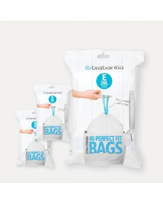PerfectFit vuilniszakken Code F (20 liter) Slimline, 3 Dispenser Packs, 120 stuks