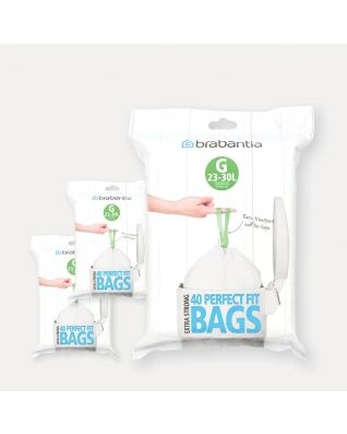 PerfectFit Bags Code G (23-30 litre), 3 Dispenser Packs, 120 Bags