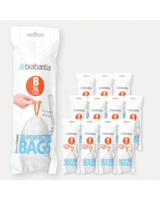 PerfectFit Bags Code B (5 litre), 12 rolls of 20 bags