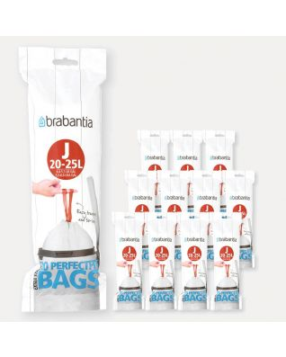 Bolsas PerfectFit para Bo, Código J (23 litros), 12 rollos de 20 bolsas