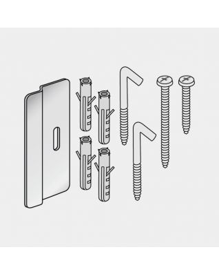 Kit de fijación para tendedero de cuerdas blanco - White