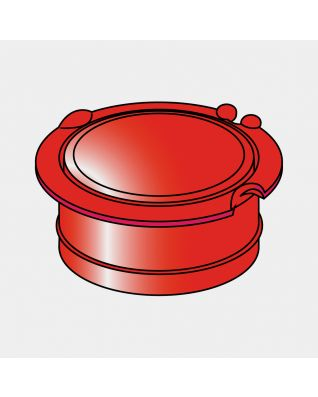 Groundspike Lid, Ø 45 mm - Red
