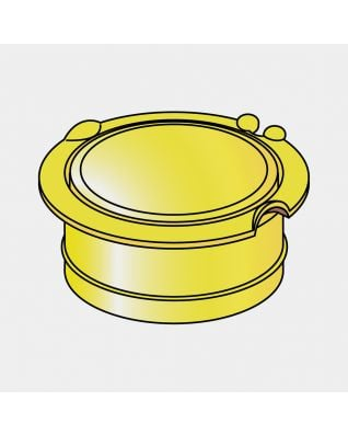 Dop voor grondanker, diameter 50 mm - Yellow