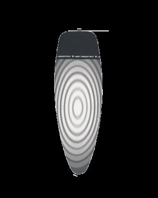 Funda para mesa de planchar D 135 x 45 cm, con capa superior - Titan Oval