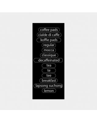 Labels Canisters Senseo Coffee - Black