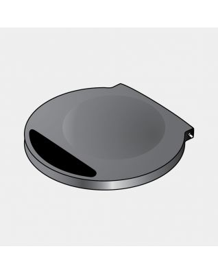 Lid (without Rim) incl. Batteries, fits Sensor Bin only - Black