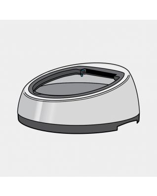 Lid (without Rim) Sensor Bin 50 litre, diameter 398 mm - Brilliant Steel