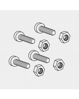 Set viti tubo fissaggio, Ø 45 mm