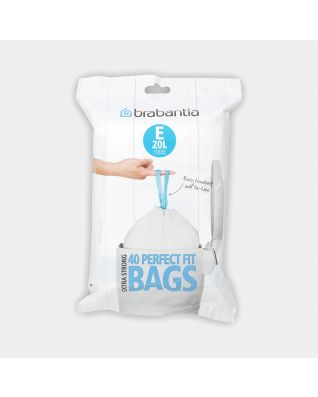 PerfectFit Bags Code E (20 litre), Dispenser Pack, 40 Bags
