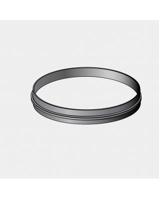 Bordo superiore plastica, diametro 20.5 cm - Black