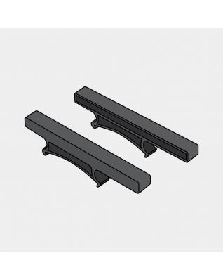 Platform Holder, Set of 2 - Black