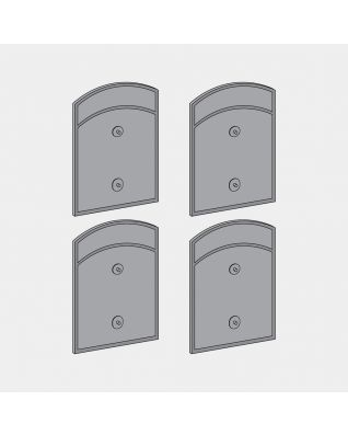 Side Locks for Built-in Separator, 2x18 litre, Set of 4 - Grey