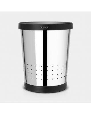 Waste Paper Bin 11 litre - Brilliant Steel