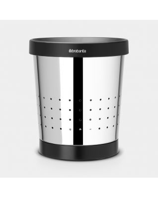Waste Paper Bin 5 litre - Brilliant Steel