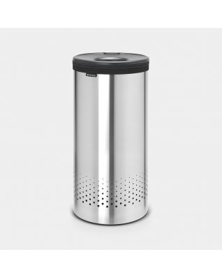 Laundry Bin 35 litre - Matt Steel