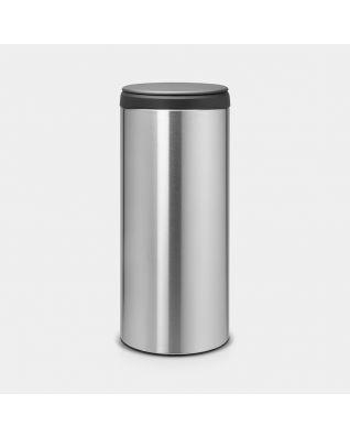 FlipBin 30 litre - Matt Steel Fingerprint Proof