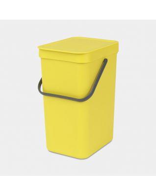Sort & Go Waste Bin 12 litre - Yellow