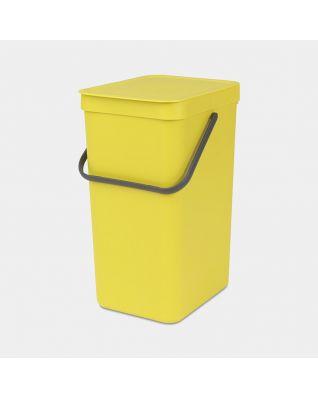 Sort & Go Waste Bin 16 litre - Yellow