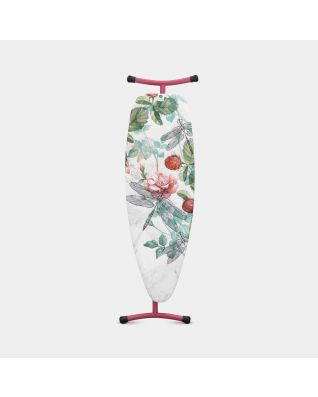 Ironing Board D 135 x 45 cm, for Steam Iron & Generator -Raspberry
