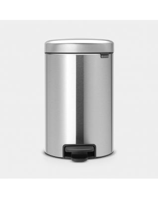 Pedaalemmer newIcon 12 liter - Matt Steel Fingerprint Proof