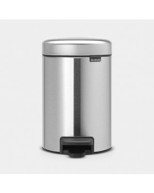 Pedal Bin newIcon 3 litre - Matt Steel Fingerprint Proof