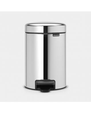 Poubelle à pédale newIcon 3 litres - Brilliant Steel