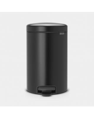 Cubo pedal newIcon 12 litros - Matt Black