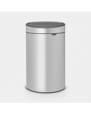 Touch Bin New 40 litre - Metallic Grey