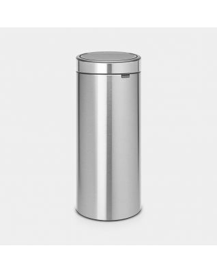 Touch Bin New 30 litres - Matt Steel Fingerprint Proof