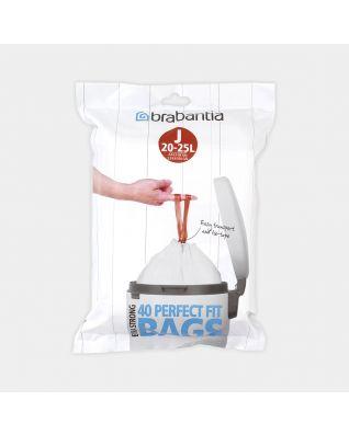 PerfectFit Bin Bags For Bo, Code J (23 litre), Dispenser Pack, 40 Bags